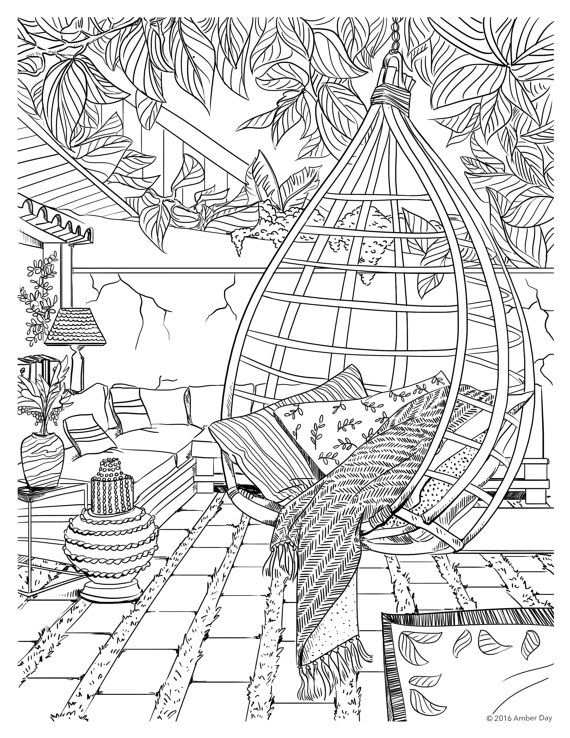 Detailed Landscape Coloring Pages For Adults at ...