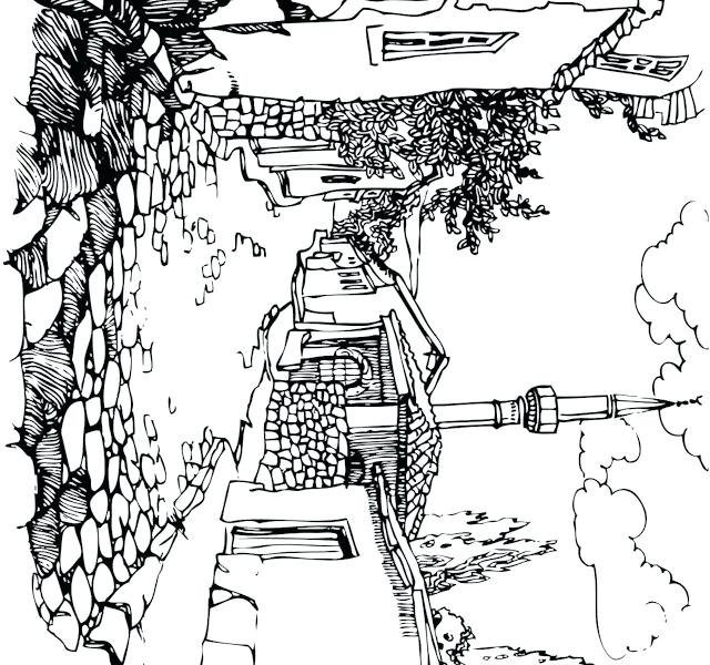 640x600 Landscape Coloring Pages Adults Landscape Coloring Pages