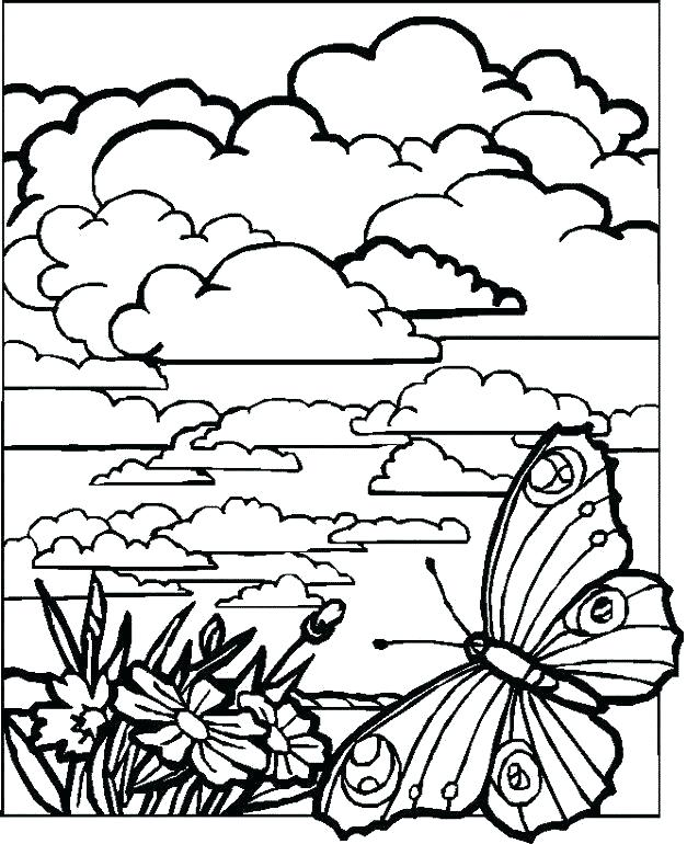 627x770 Landscape Coloring Pages Landscape Coloring Book Coloring Pages