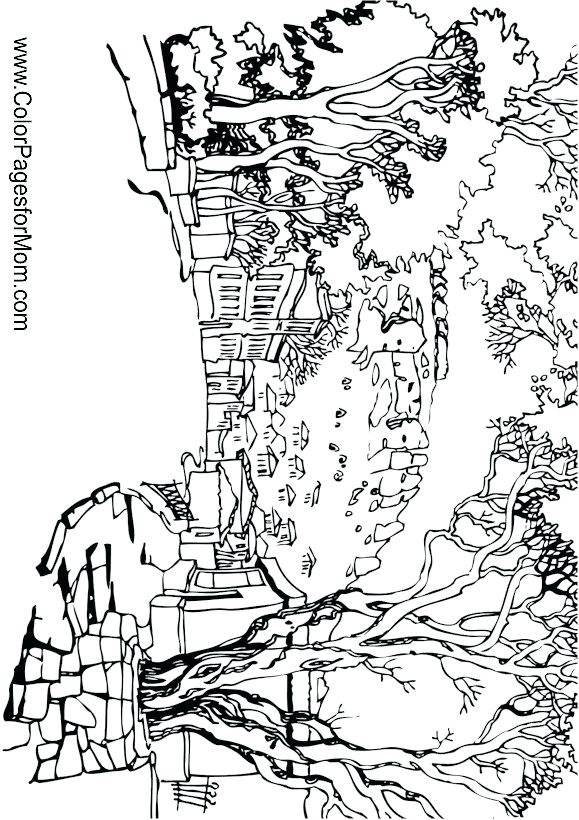 579x820 Coloring Page Landscape Coloring Page Simple Landscape Colouring