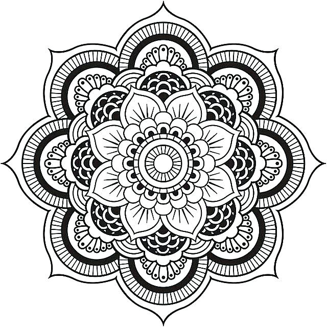 640x642 Detailed Mandala Coloring Pages Detailed Mandala Coloring Pages