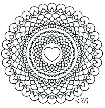 425x438 Intricate Mandala Coloring Pages Intricate Mandala Coloring Pages