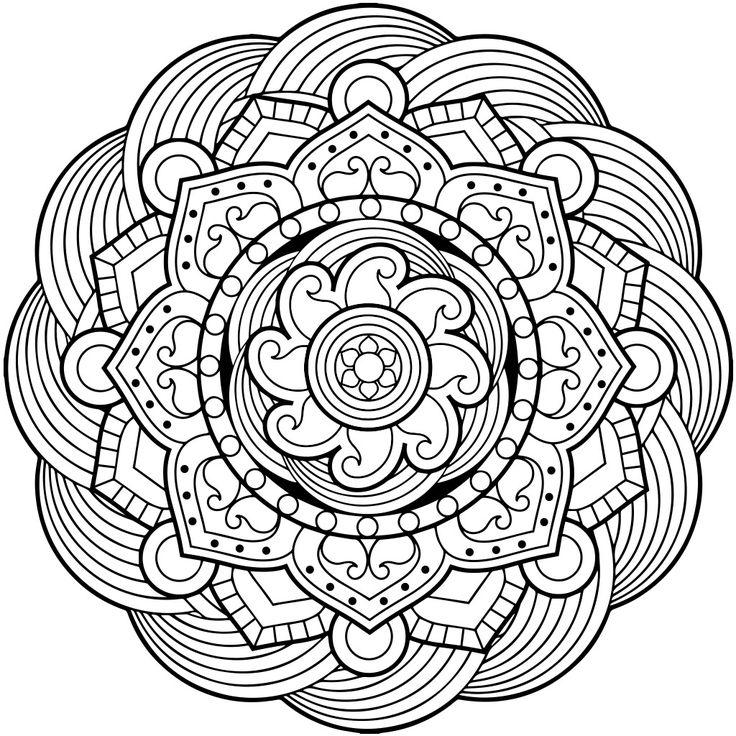 Detailed Mandala Coloring Pages at GetDrawings.com   Free ...