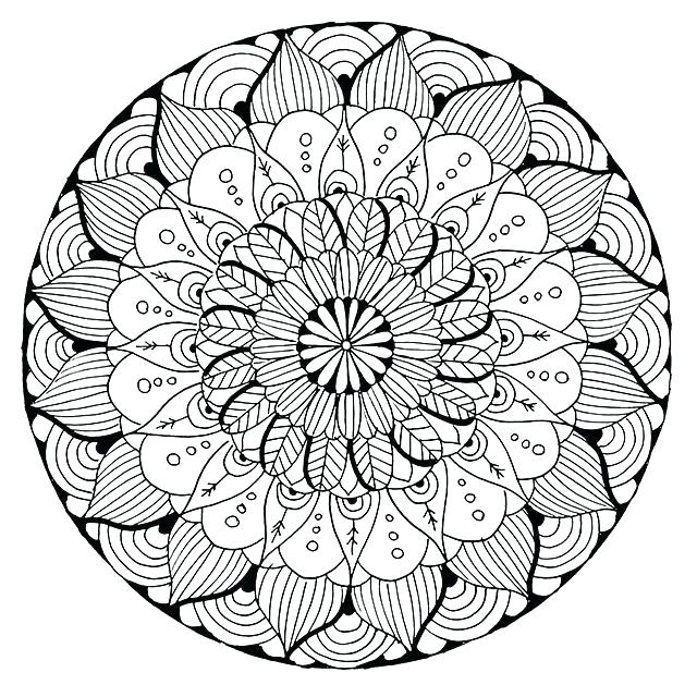 640x640 Difficult Mandala Coloring Pages Difficult Mandala Coloring Pages