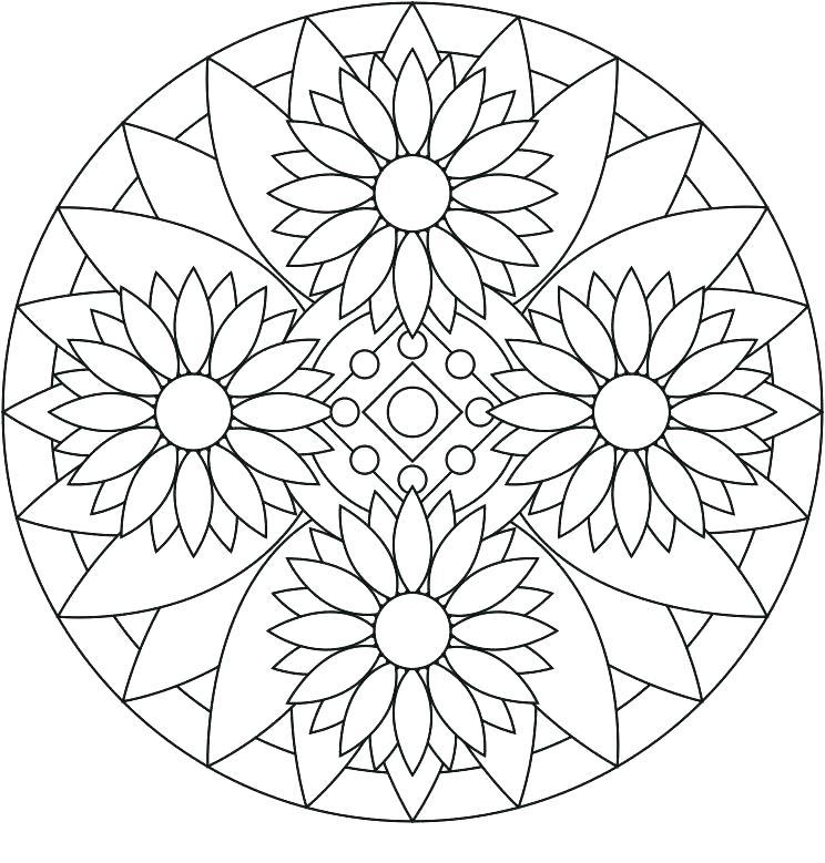744x779 Mandala Coloring Pages Mandala Coloring Pages Free Mandala