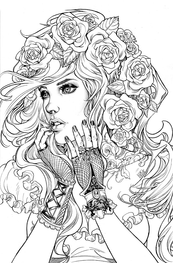 Detailed Mermaid Coloring Pages For Adults at GetDrawings ...