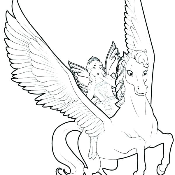 600x600 Detailed Unicorn Coloring Pages And Pics Of Detailed Flying