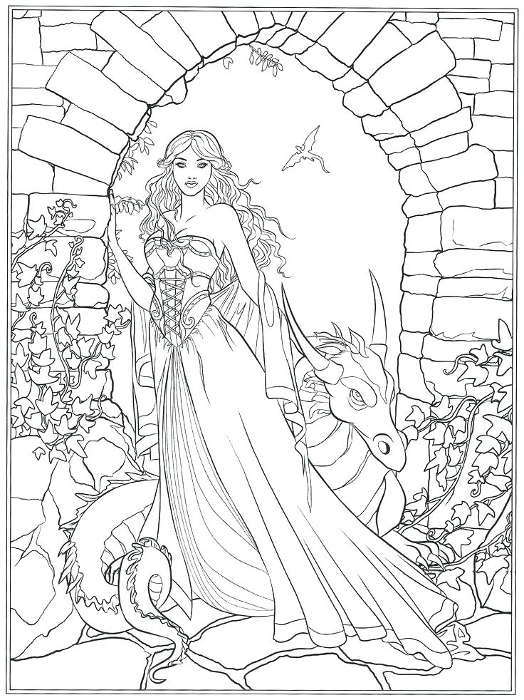 736x982 Detailed Unicorn Coloring Pages And Unicorn Coloring Page Coloring