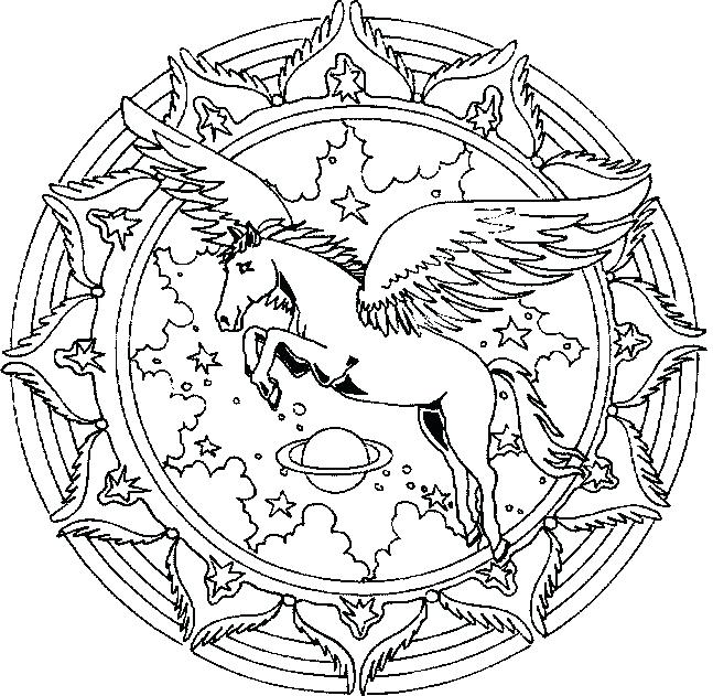 647x631 Detailed Unicorn Coloring Pages And Unicorn Coloring Pages Google