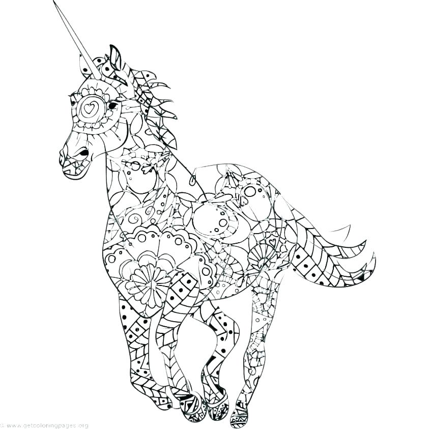 843x843 Detailed Unicorn Coloring Pages Together With Emo Coloring Pages