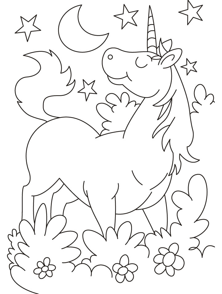 720x954 Flying Unicorn Coloring Pages With Wings
