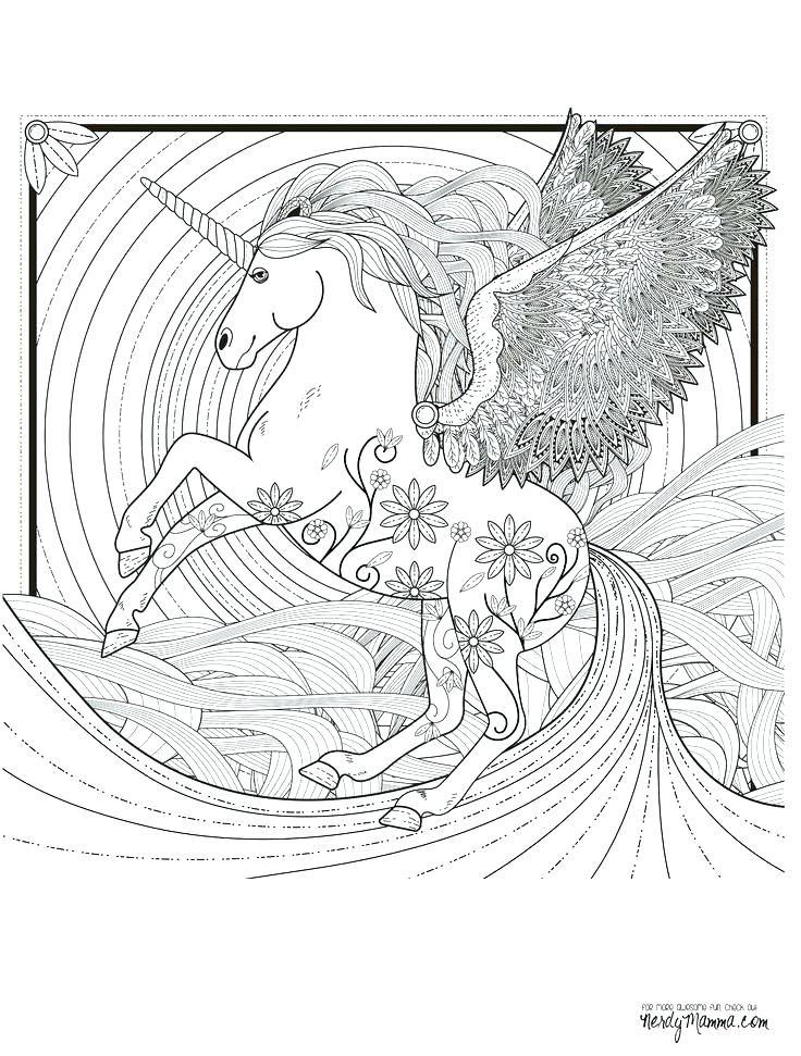 736x971 Coloring Pages Pdf Disney Detailed Unicorn Plus Free Printable
