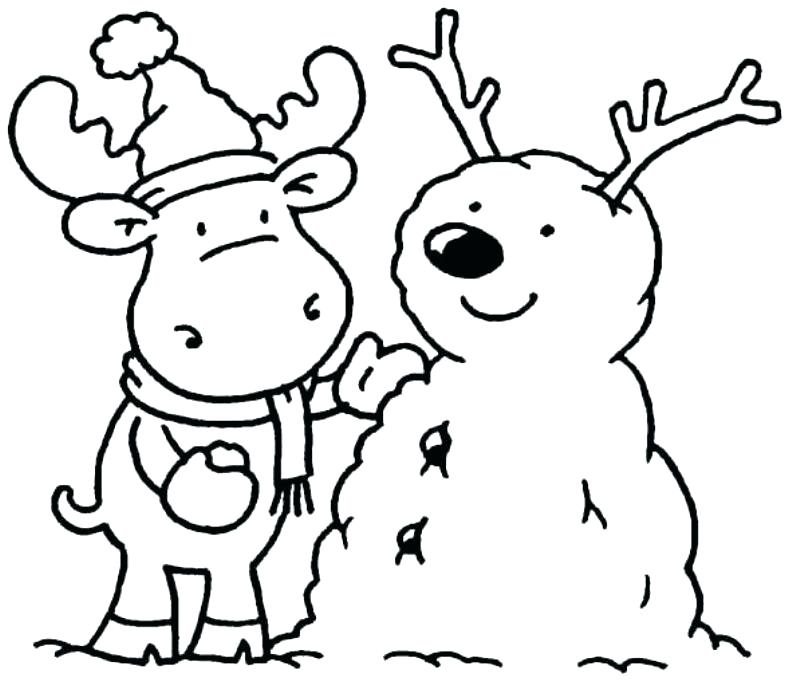 788x681 Winter Coloring Pages Free Winter Coloring Pages Free Winter