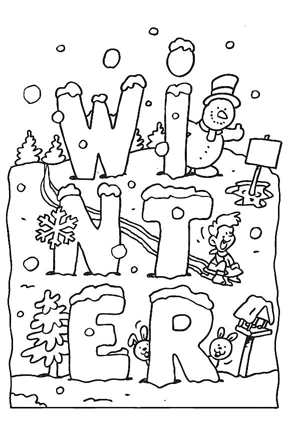 567x850 Winter Coloring Sheet Winter Color Pages Winter Season Coloring