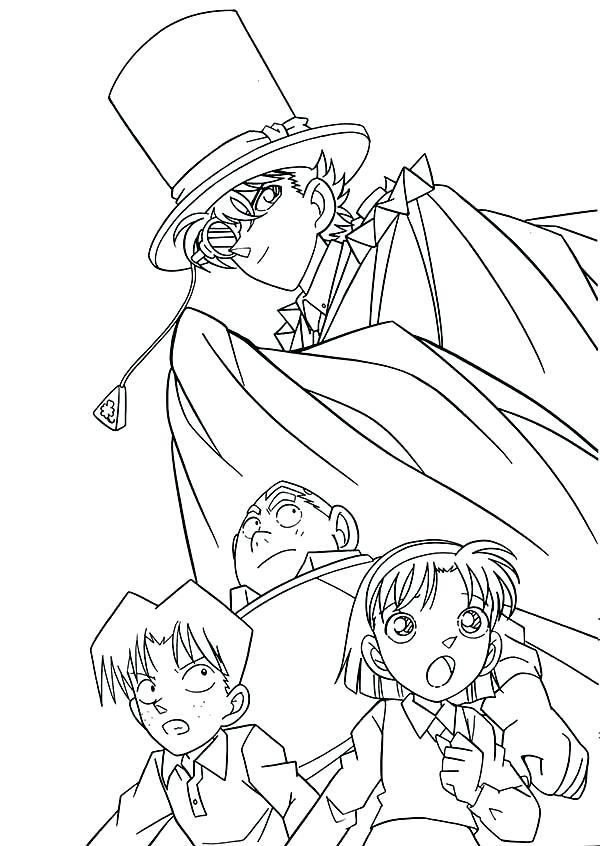 600x846 Detective Conan Coloring Pages