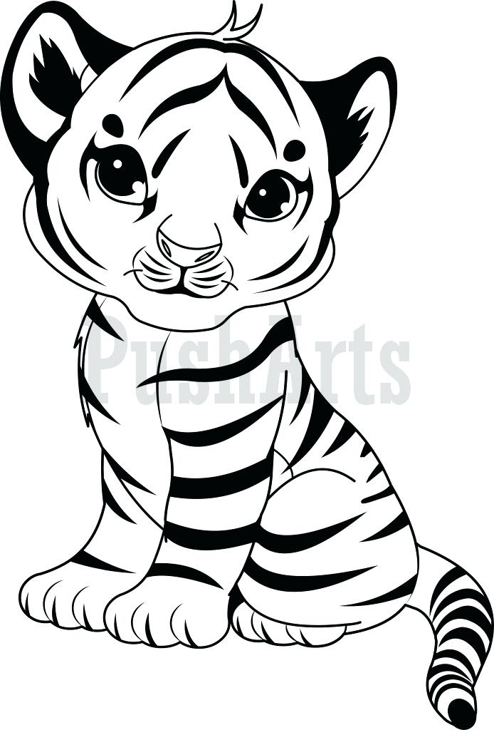 694x1024 Tiger Color Pages Coloring Pages Of Cute Baby Tigers Google Search