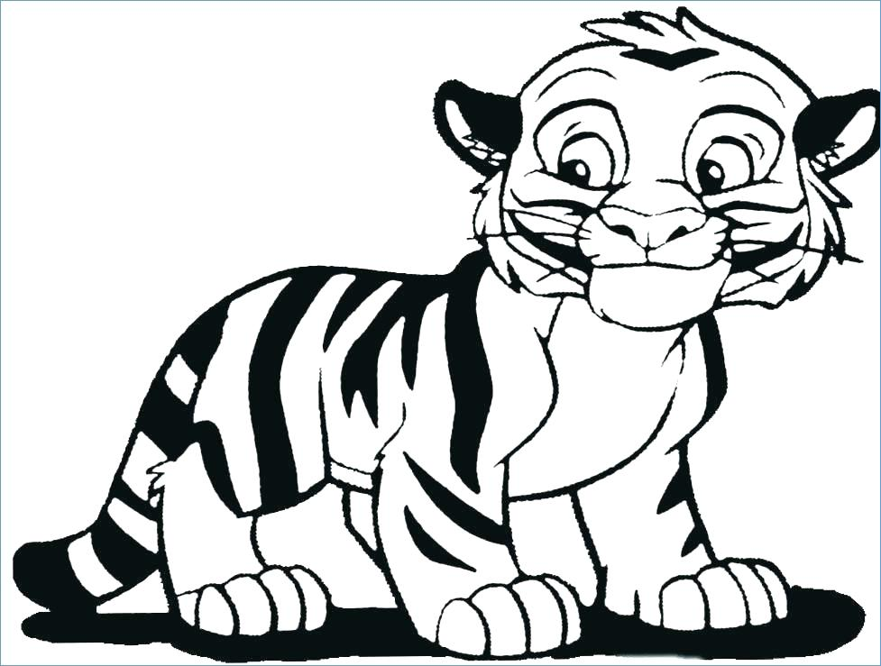 977x739 Tiger Coloring Pages Small Printable Coloring Pages Plus Free