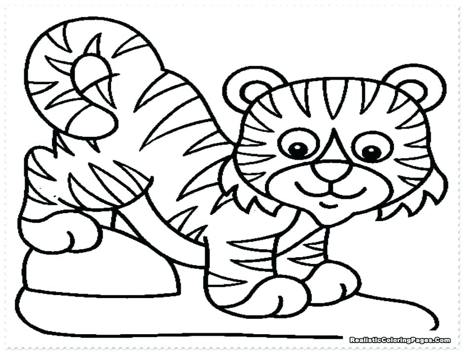 940x714 Tiger Printable Coloring Pages Tiger Coloring Book Together