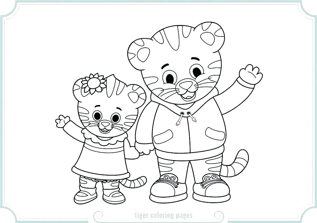 1024x720 Coloring Pages Of Tigers Icontent