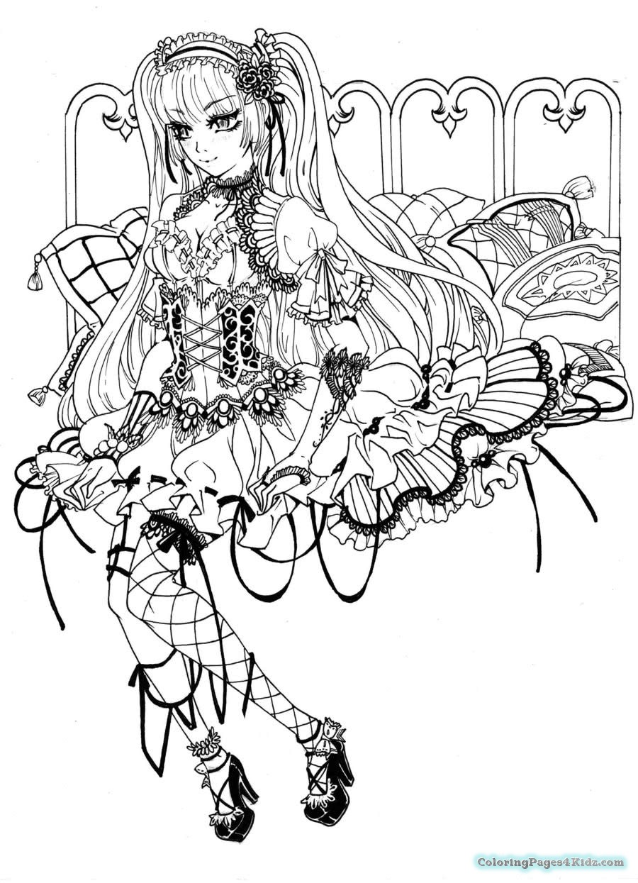 900x1245 Chibi Anime Angel And Devil Coloring Pages Coloring Pages For Kids