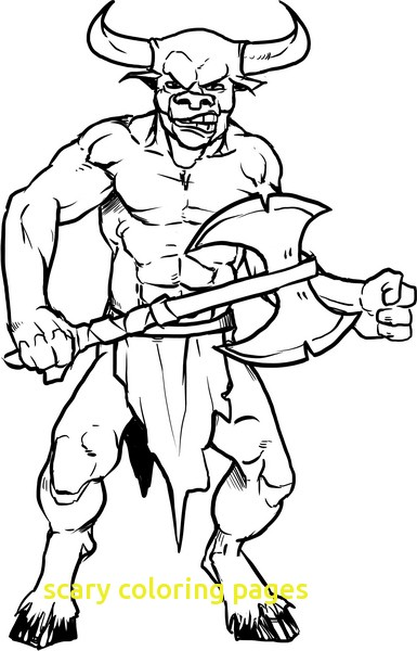 385x600 Scary Coloring Pages With Scary Coloring Pages Devil Coloringstar