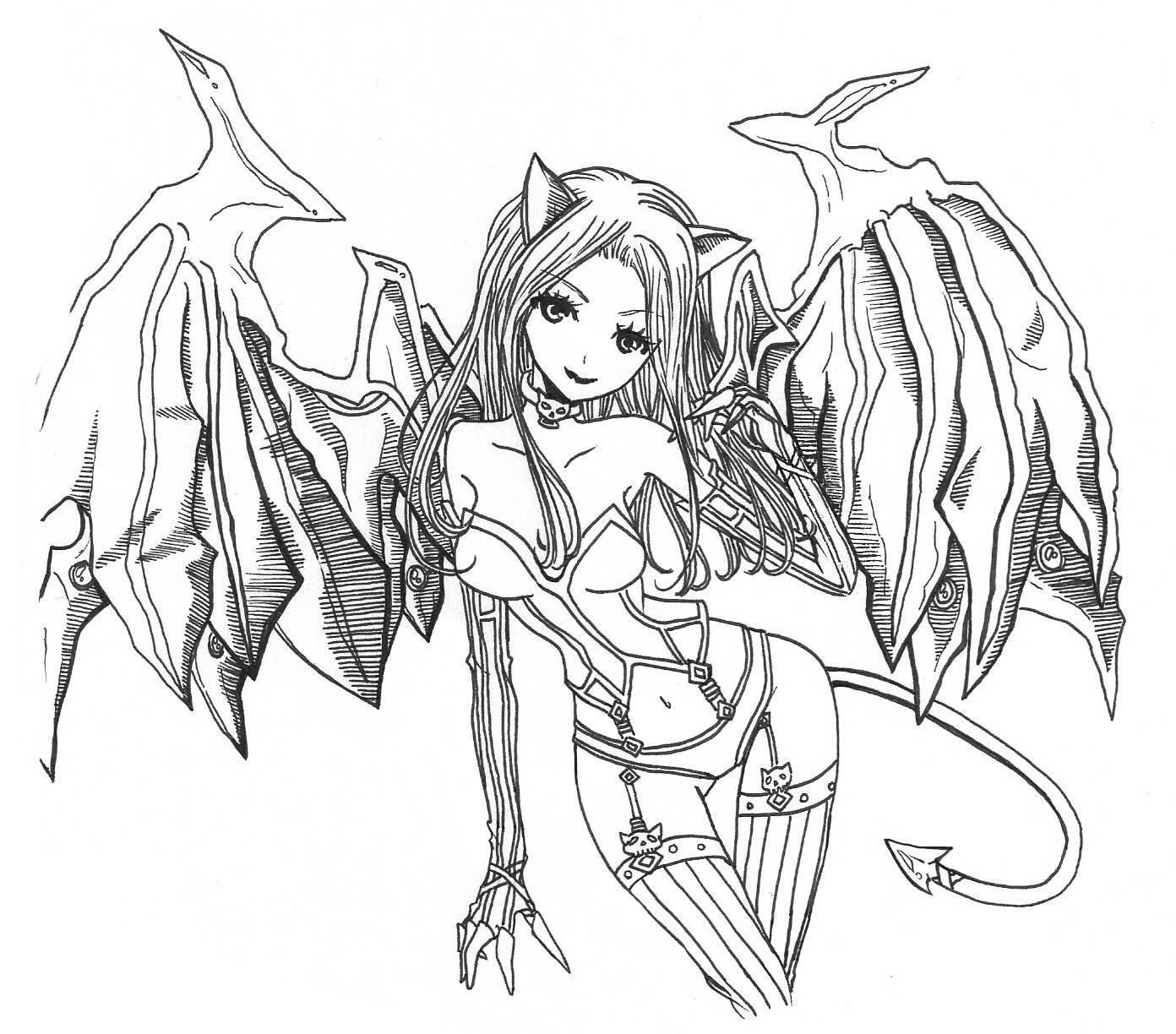 1392x1224 Anime Devil Coloring Pages Coloring Sheets