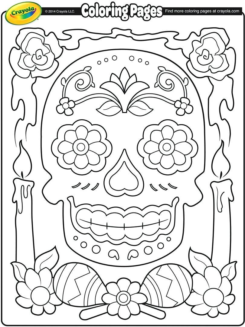 810x1080 Dia De Los Muertos Coloring Pages