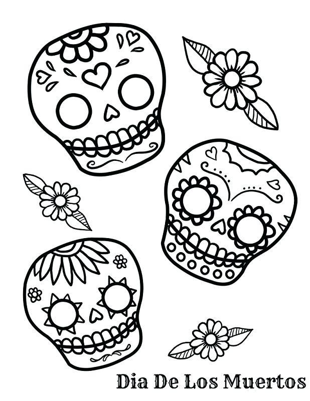 618x800 Dia De Los Muertos Coloring Pictures Day Of The Dead Skull