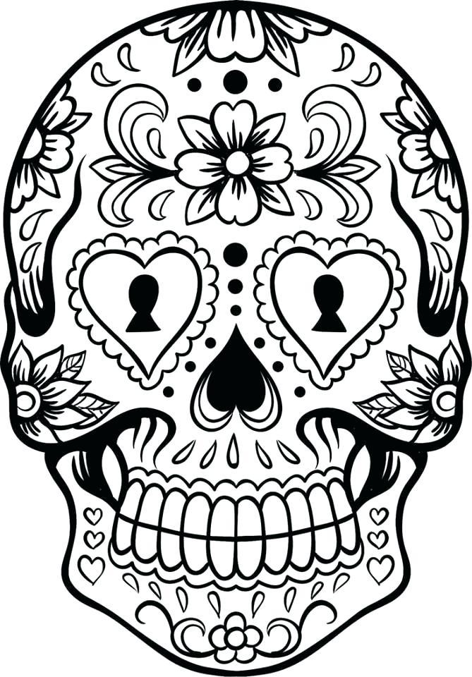 669x960 El Dia De Los Muertos Coloring Pages Coloring Page Coloring Pages