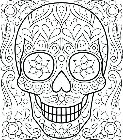 500x570 El Dia De Los Muertos Coloring Pages Skull Coloring Pages Free