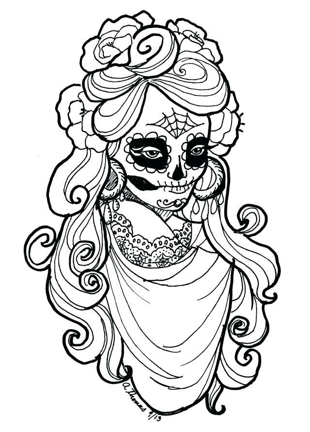 640x891 El Dia De Los Muertos Coloring Pages Skull Cut Paper Decoration