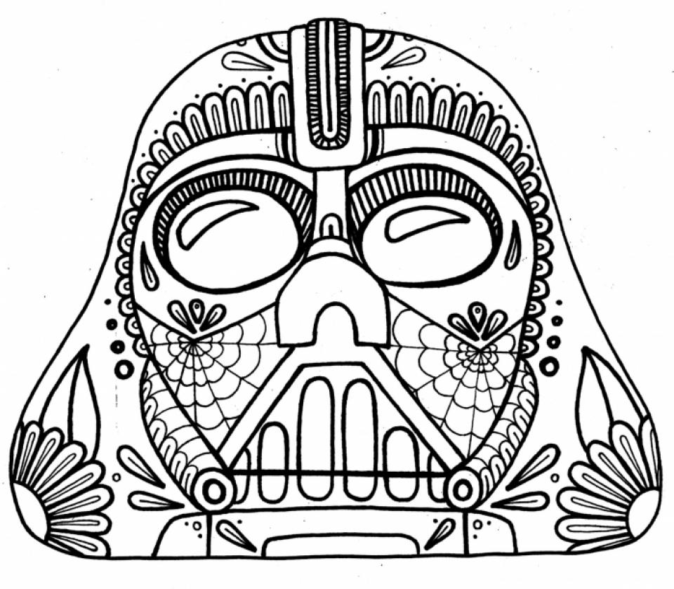 960x839 Free Dia De Los Muertos Coloring Marvelous Dia De Los Muertos