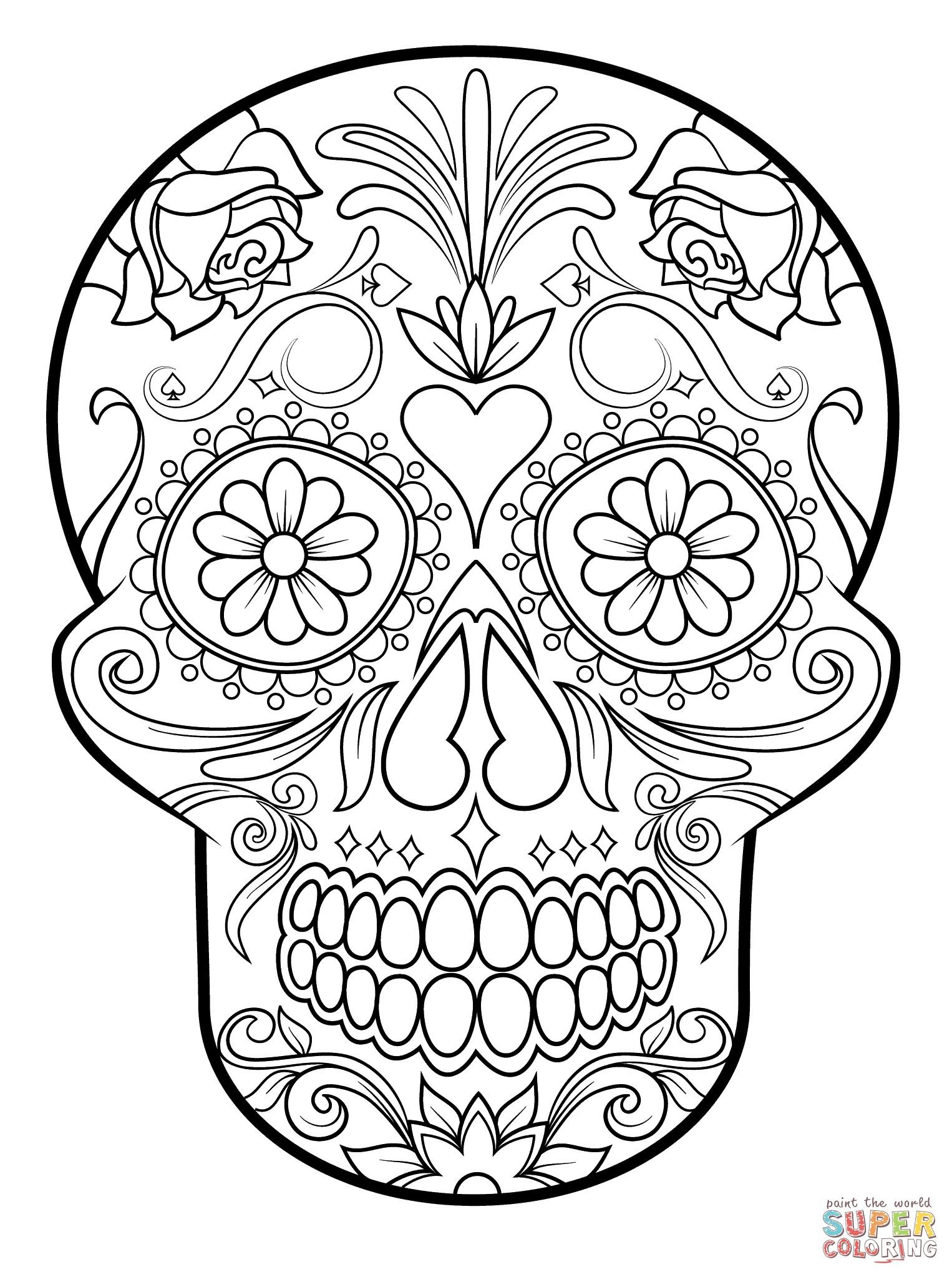 1526x2046 Best Of Day Of The Dead Dia De Los Muertos Sugar Skull Coloring