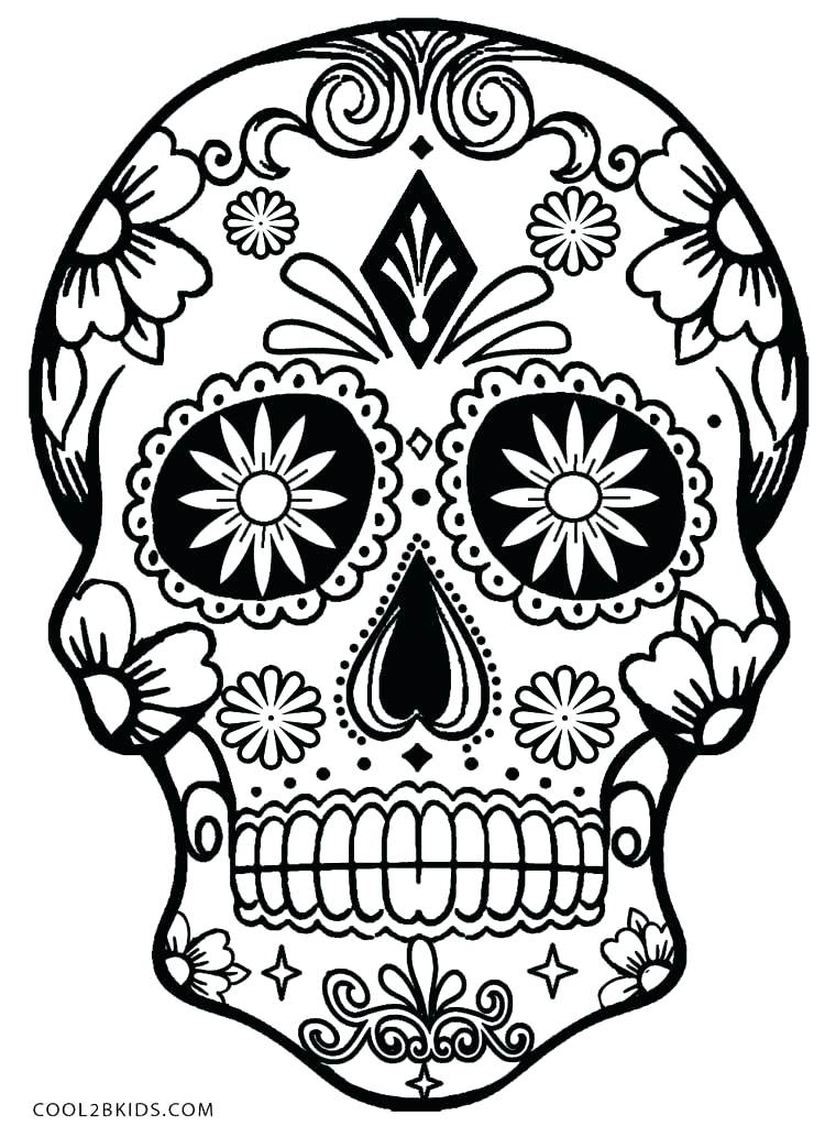 750x1033 Dia De Los Muertos Coloring Pages Also Day Of The Dead Coloring
