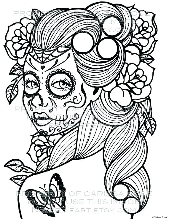 570x738 Dia De Los Muertos Coloring Pages Coloring Pages For Kids Day