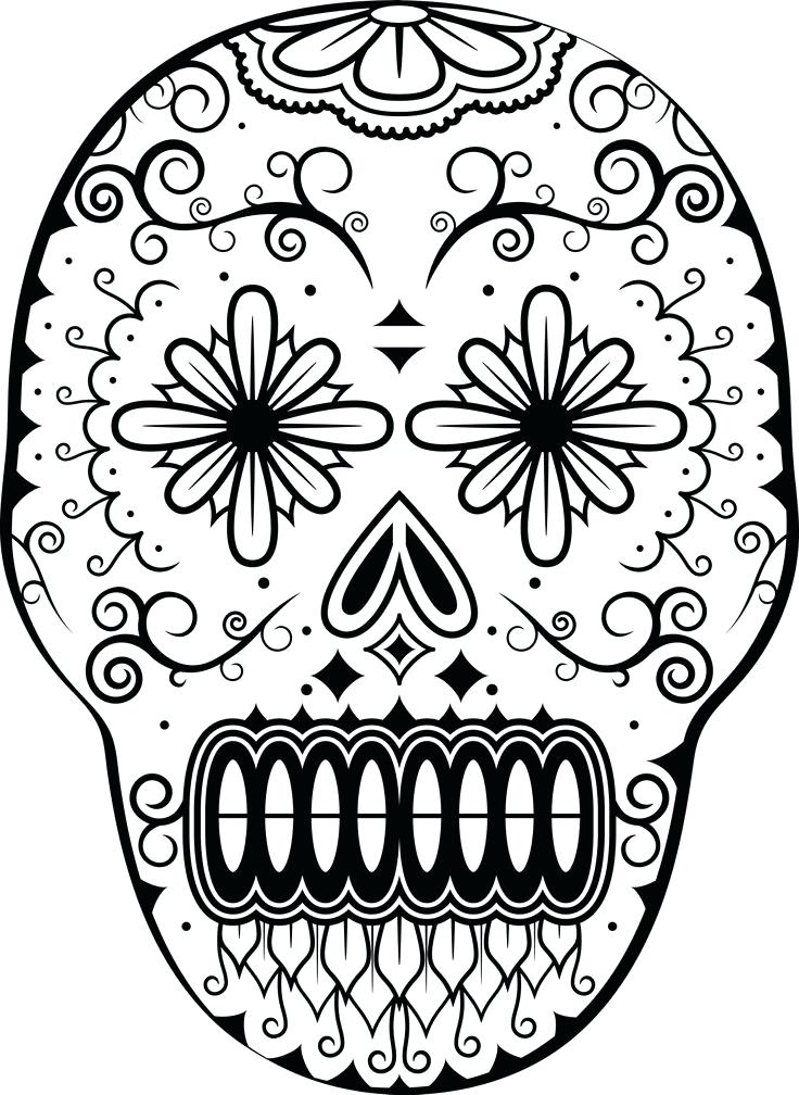 736x1008 Dia De Los Muertos Coloring Pages Day Of Thed Coloring Page D