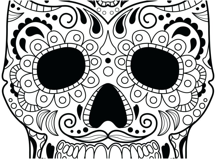 827x609 Dia De Los Muertos Printable Coloring Pages Get The Latest Free
