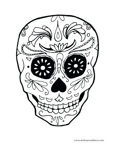 400x517 Dia De Los Muertos Skull Coloring Pages Coloring Pages Kids