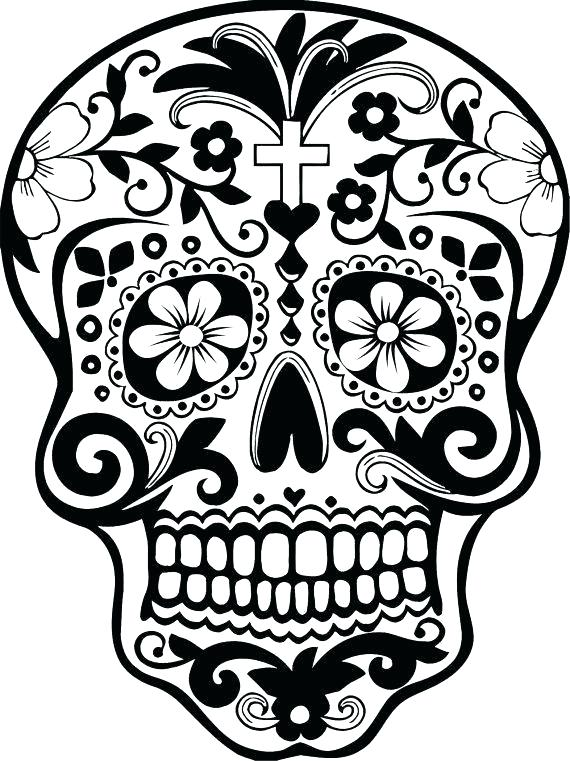 570x761 El Dia De Los Muertos Coloring Pages Skull Coloring Pages Day