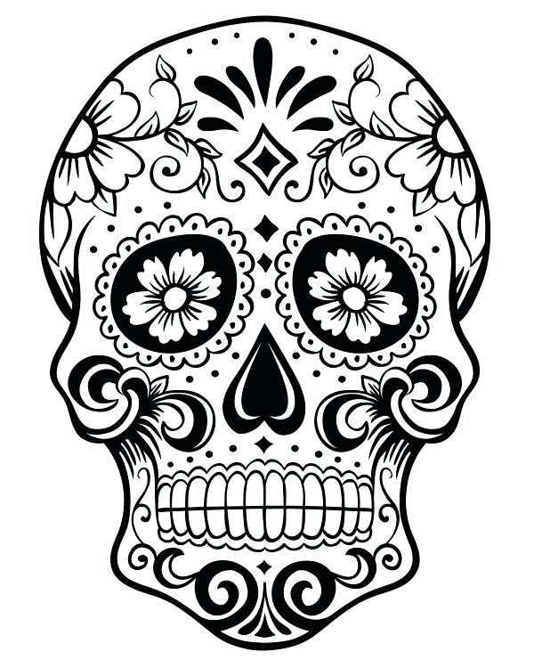 600x750 Fresh Dia De Los Muertos Coloring Pages For Printable Day