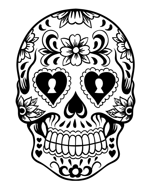 600x750 Innovation Idea Dia De Los Muertos Coloring Pages Printable Day