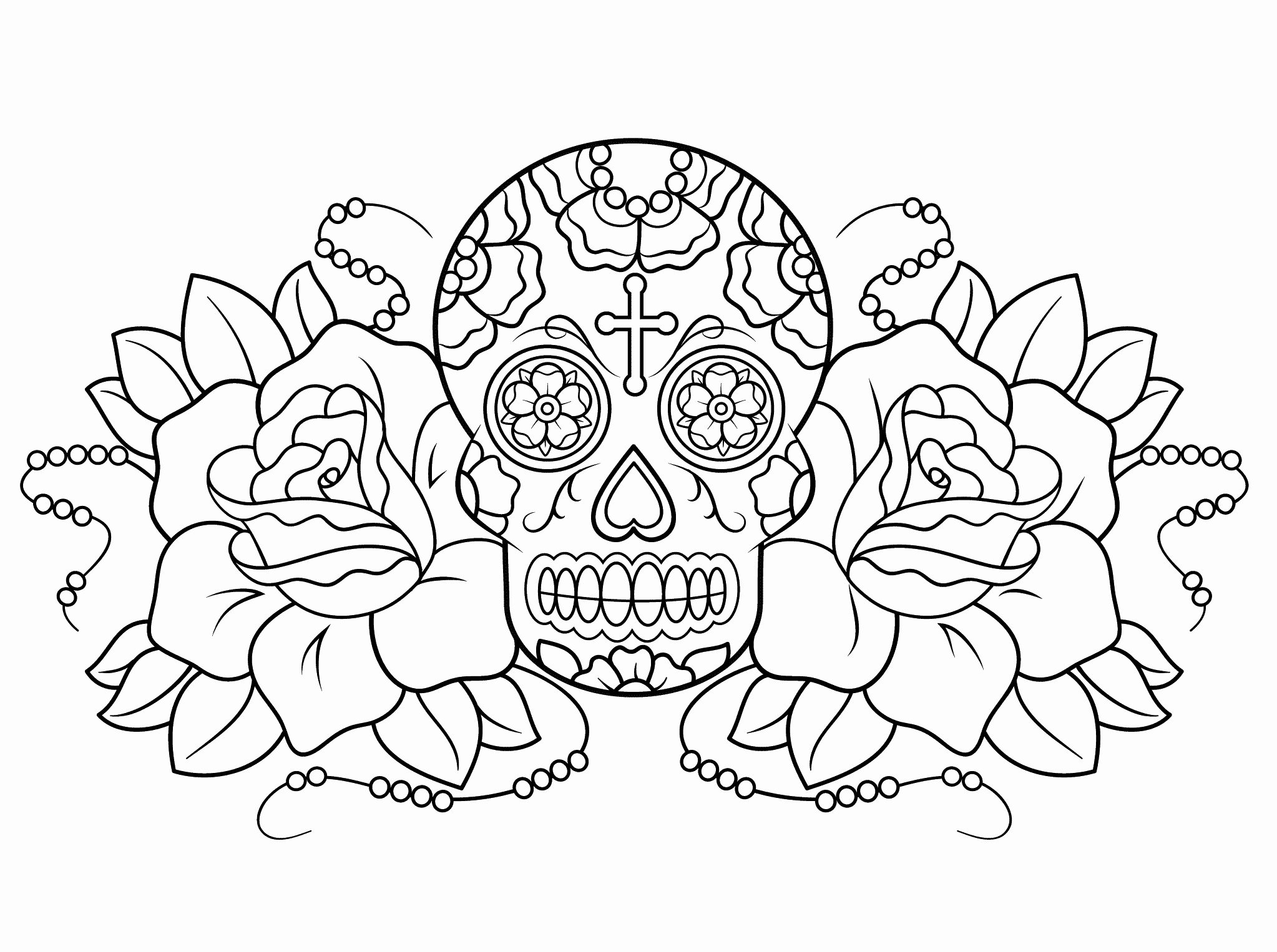 2046x1526 Day Of The Dead Printable Coloring Pages Luxury Free Printable Day