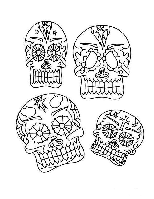 634x820 Dia De Los Muertos Coloring Pages Dibujos Para Colorear Del Dia