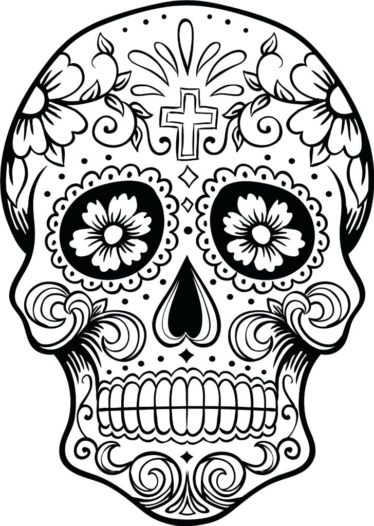728x1024 Dia De Los Muertos Printable Coloring Pages Skull Coloring Pages