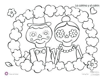 400x309 El Dia De Los Muertos Coloring Pages Dia De Los Muertos Couple