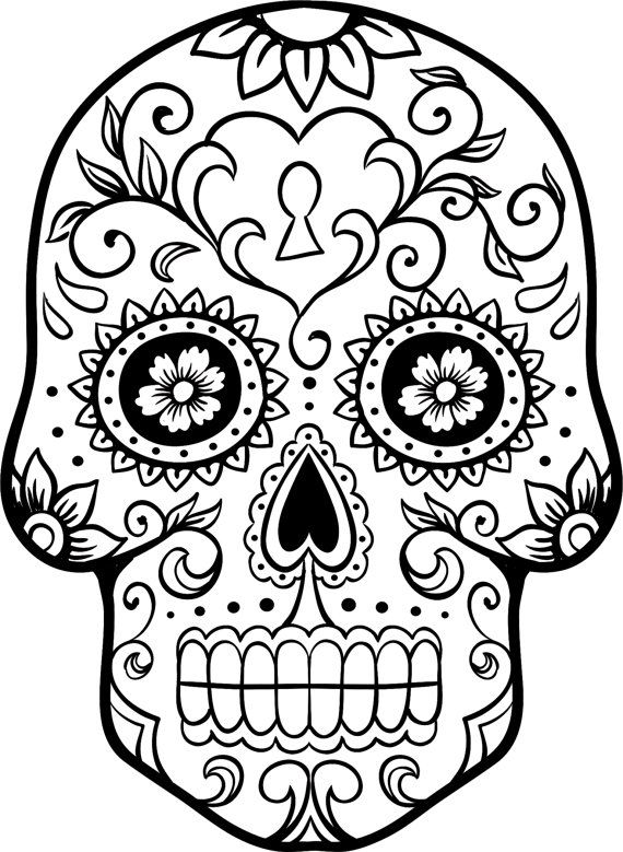 570x779 Free Printable Day Of The Dead Coloring Pages Dia De Los Muertos