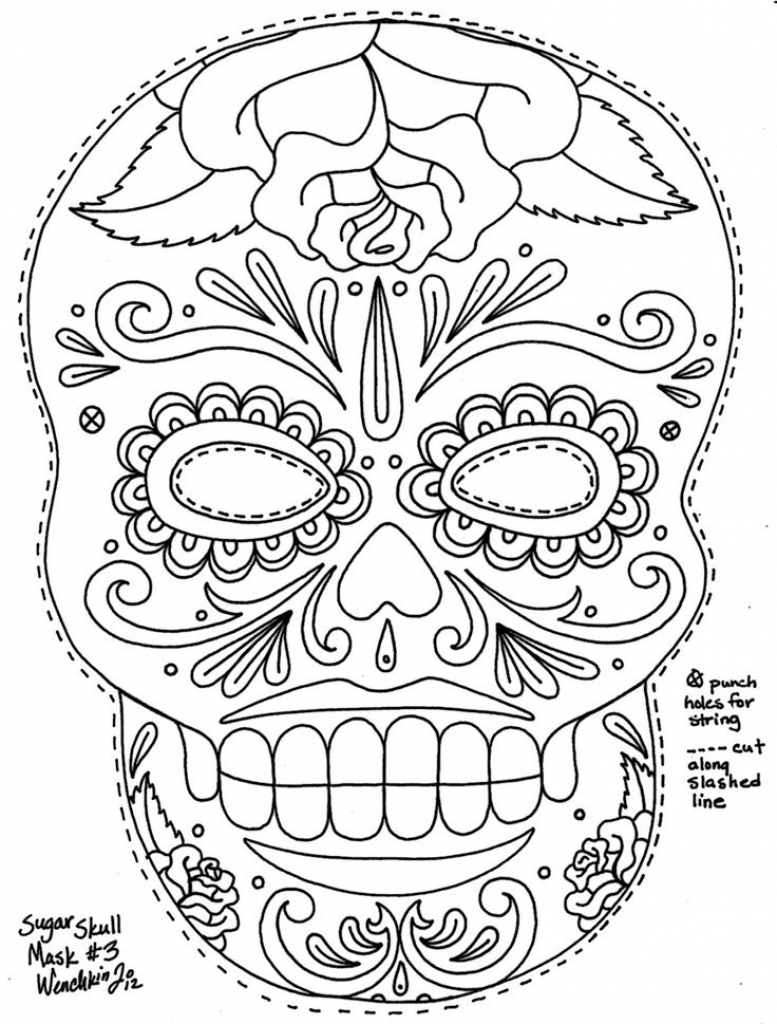 777x1024 Marvelous Design Ideas Dia De Los Muertos Coloring Pages Get This