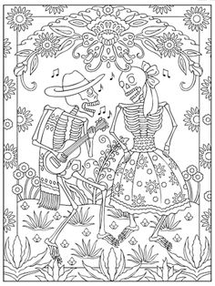 236x314 Peaceful Ideas Dia De Los Muertos Coloring Book Images