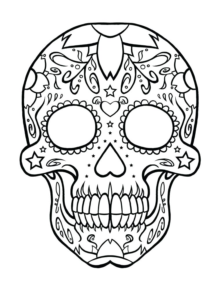 759x1000 Day Of The Dead Coloring Skulls Day Of The Dead Coloring Sheets