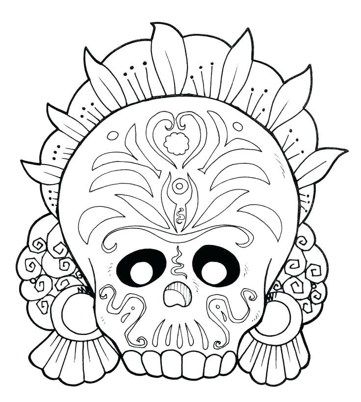 736x819 Dia De Los Muertos Art Coloring Pages Coloring Pages